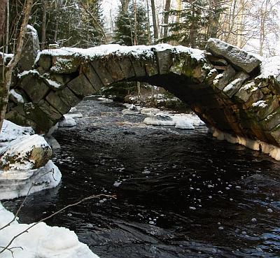 Stenbro över Helge å. Foto: David Göransson